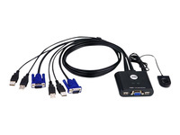 ATEN CS22U KVM switch 2 x KVM port(s) 1 lokalbruger desktop