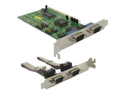 DeLock PCI Card 4x Serial - Sériový adaptér - PCI - RS-232 x 4