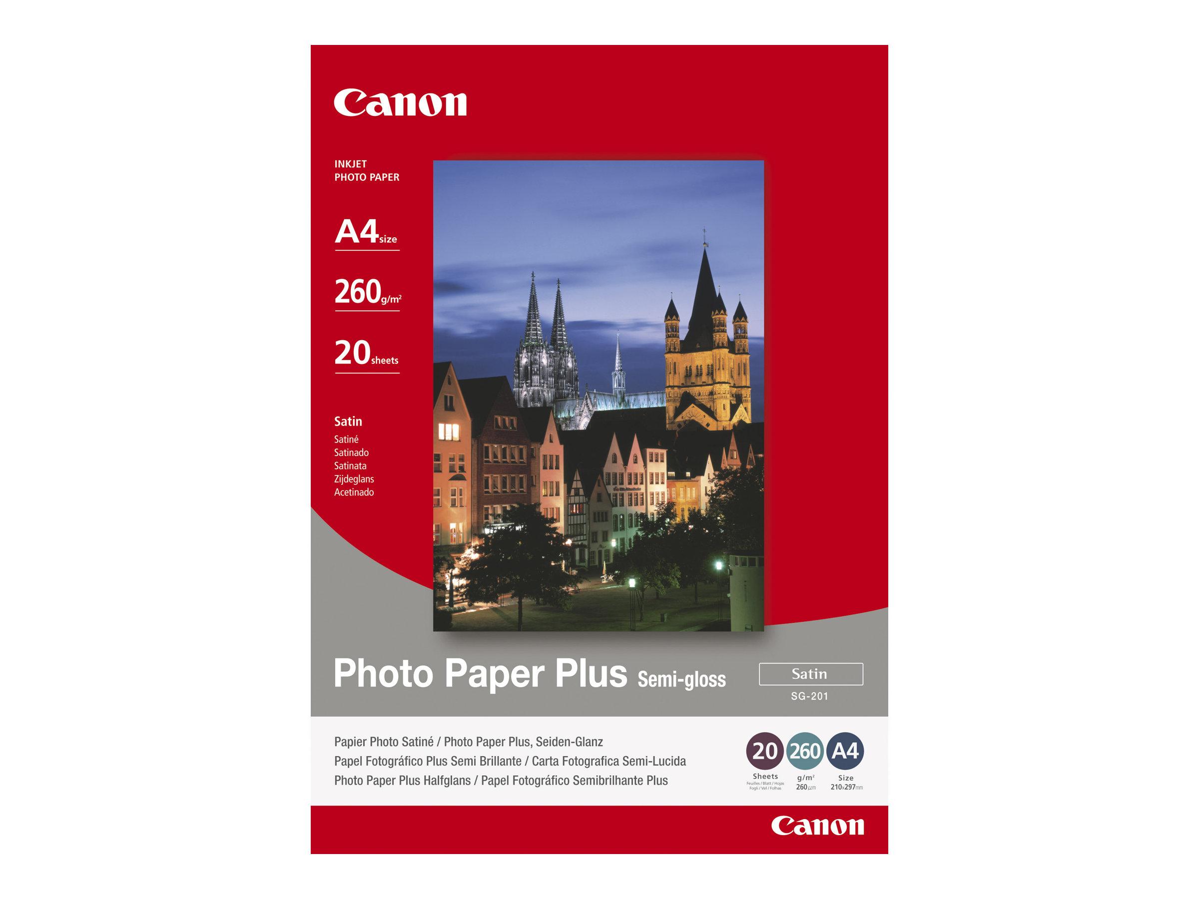 Canon Photo Paper Plus SG-201 - papier photo - 20 feuille(s)