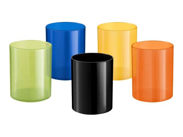 ELAMI - Pot à crayons - plastique - différents coloris disponibles
