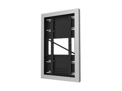 "Peerless-AV Wall Kiosk Enclosure KIP655-S - Mounting kit (enclosure) for LCD / plasma panel - silver powder coat - screen size: 55"" - wall-mountable"