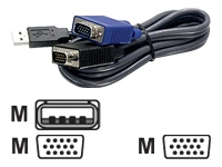 TRENDnet TK CU10 Kabel til tastatur / video / mus (KVM)