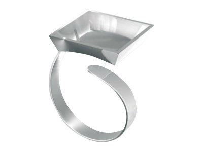 STAEDTLER FIMO - Kit artisanal de bijoux - support bague carré - argenté