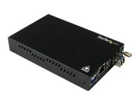 StarTech.com Convertisseur de media fibre optique GbE - Monomode LC - Convertisseur Ethernet cuivre vers fibre - 20 km - convertisseur de média à fibre optique - Gigabit Ethernet