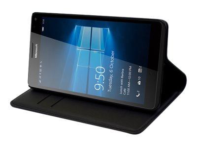Muvit Wallet - Protection à rabat pour Microsoft Lumia 950 XL - noir