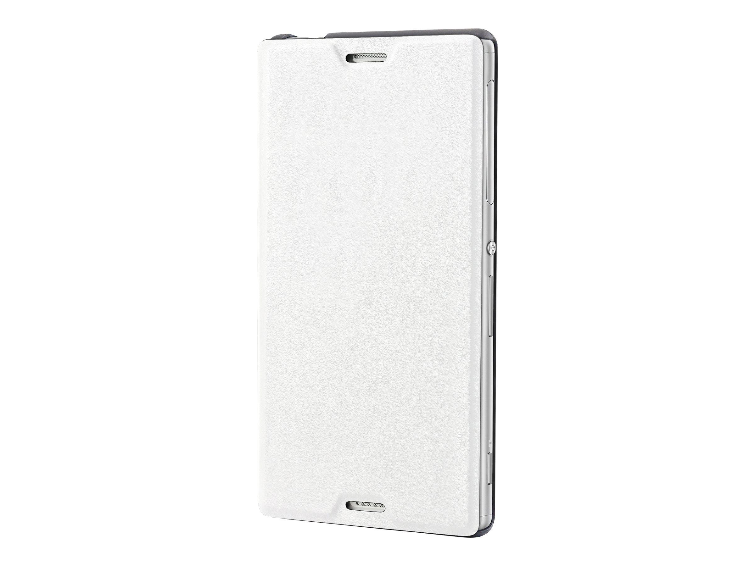 Muvit MFX Easy Folio Case - Protection à rabat pour Sony XPERIA M4 Aqua - blanc