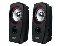 Sweex 2.0 Speaker Set USB Højttalere til PC 2 Watt (Total) sort/ rød