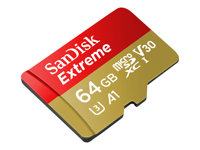 SanDisk Extreme - Flash memory card (microSDXC to SD adapter included) - 64 GB