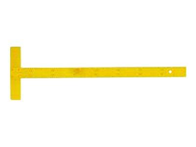 JPC - Règle en T - 75 cm - jaune - bois - pour instituteur