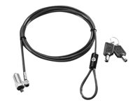 HP Ultraslim Keyed Cable Lock - Security cable lock - 6 ft - for HP 260 G2, 280 G2, 280 G3; EliteOne 705 G2; ProBook 11 G2, 64X G2, 65X G2; ProOne 400 G2