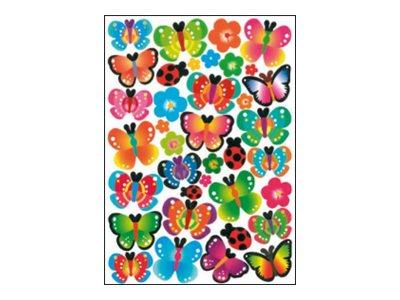 Oberthur - 88 Gomettes - papillon
