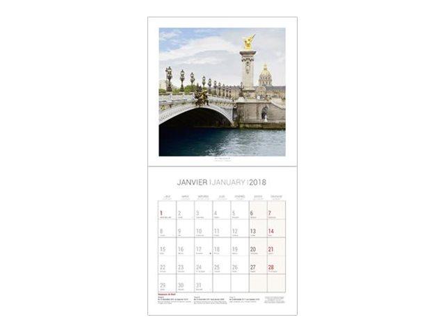 CBG Paris - Calendrier illustré - 2017 - mois par page - 300 x 600 mm