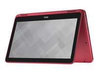 "Dell Inspiron 11 3168 - Flip design - Pentium N3710 / 1.6 GHz - Win 10 Home 64-bit - 4 GB RAM - 500 GB HDD - 11.6"" touchscreen 1366 x 768 (HD) - HD Graphics 405 - tango red - kbd: English - with 1 Year Dell Mail-In Service"