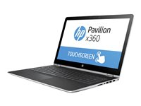 "HP Pavilion x360 15-br010nr - Flip design - Core i5 7200U / 2.5 GHz - Win 10 Home 64-bit - 8 GB RAM - 1 TB HDD - 15.6"" IPS touchscreen 1920 x 1080 (Full HD) - HD Graphics 620 - Wi-Fi, Bluetooth - natural silver, natural silver (cover and base) - kbd: US"