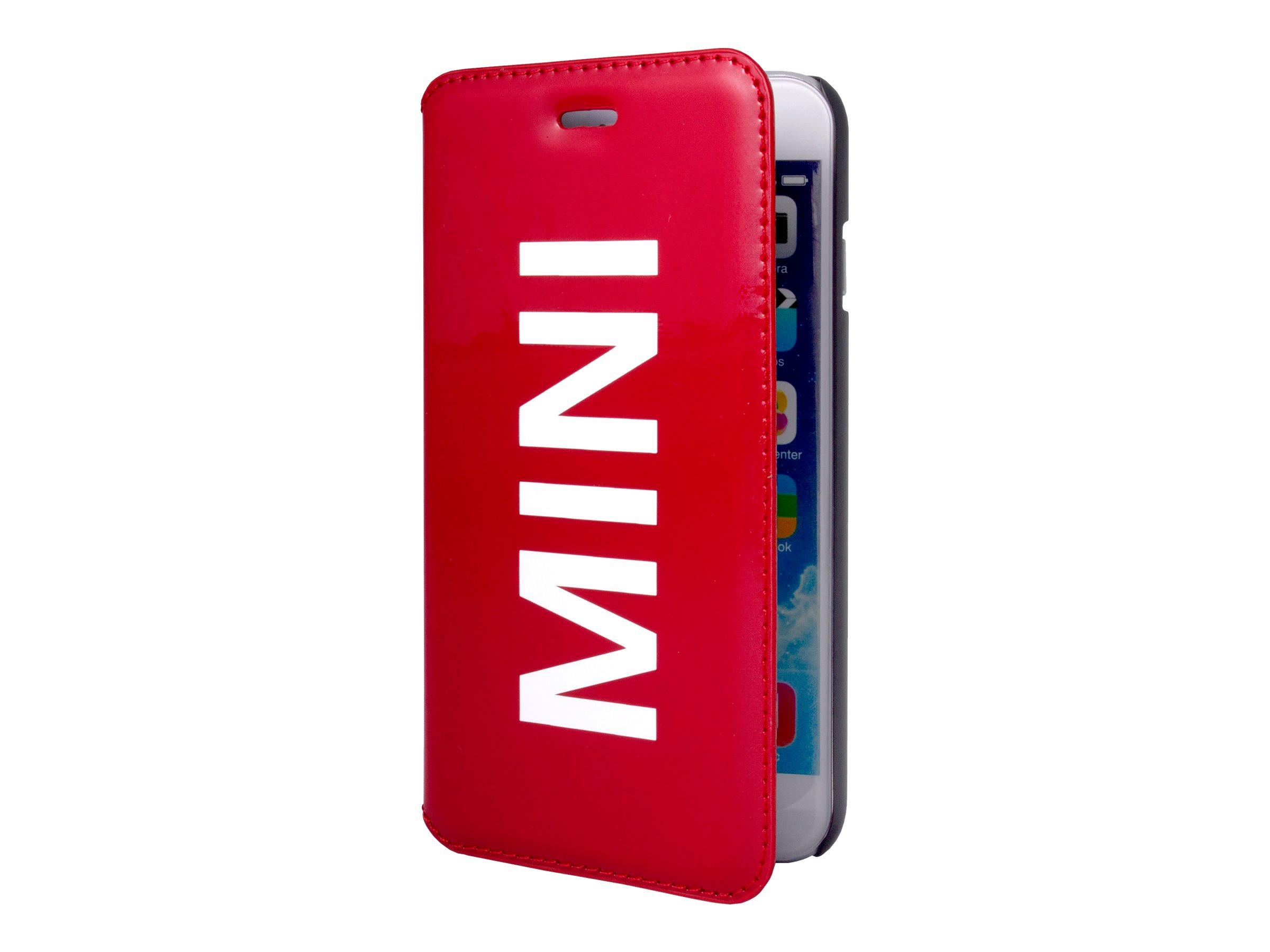 MINI Folio case - Protection à rabat  pour iPhone 6, 6s - vinyle rouge