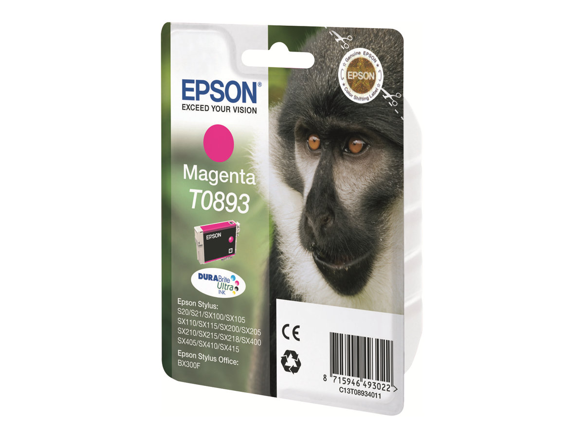 Epson T0893 - singe - magenta - originale - cartouche d'encre
