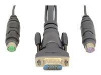 Belkin OmniView Dual Port Cable, PS/2 - câble clavier / vidéo / souris (KVM) - 3 m - B2B