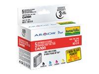 Armor - pack de 5 - noir, jaune, cyan, magenta - cartouche d'encre (équivalent à : Canon BCI-6C, Canon BCI-6M, Canon BCI-6Y, Canon BCI-3Bk )
