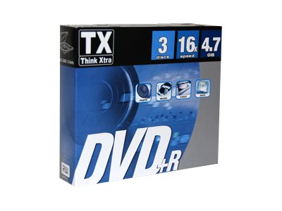 TX - DVD+R x 3 - 4.7 Go - support de stockage