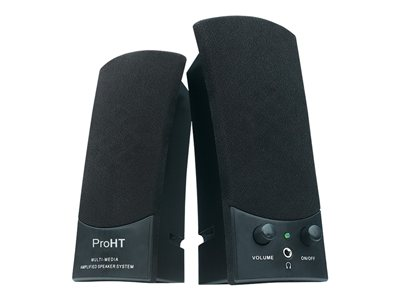 Inland ProHT USB Powered Stereo Speakers Speakers - for PC - 3 Watt (total) - Speakers - for PC - 3 Watt (total)