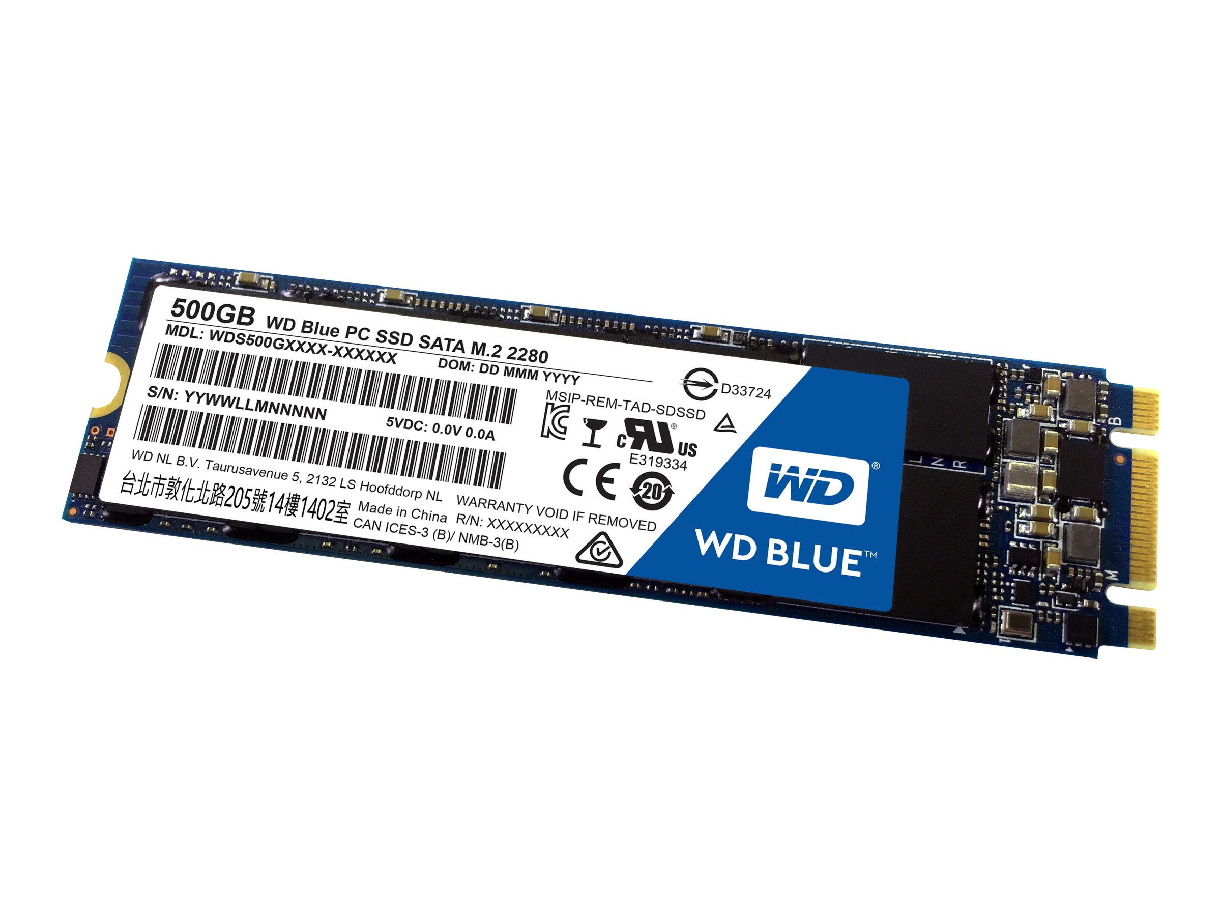WD BLUE PC SSD M.2 2280 500GB WDS500G1B0B