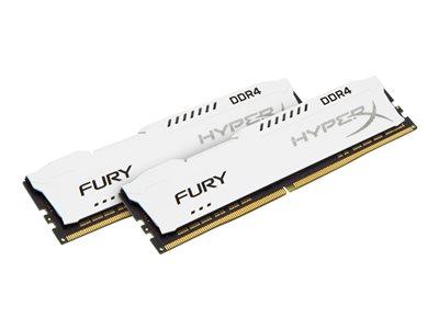 Kingston HyperX FURY - DDR4 - 32 GB: 2 x 16 GB - DIMM 288-pin - 2133 MHz / PC4-17000 - CL14 - 1.2 V - bez vyrovnávací paměti - bez ECC - bílá