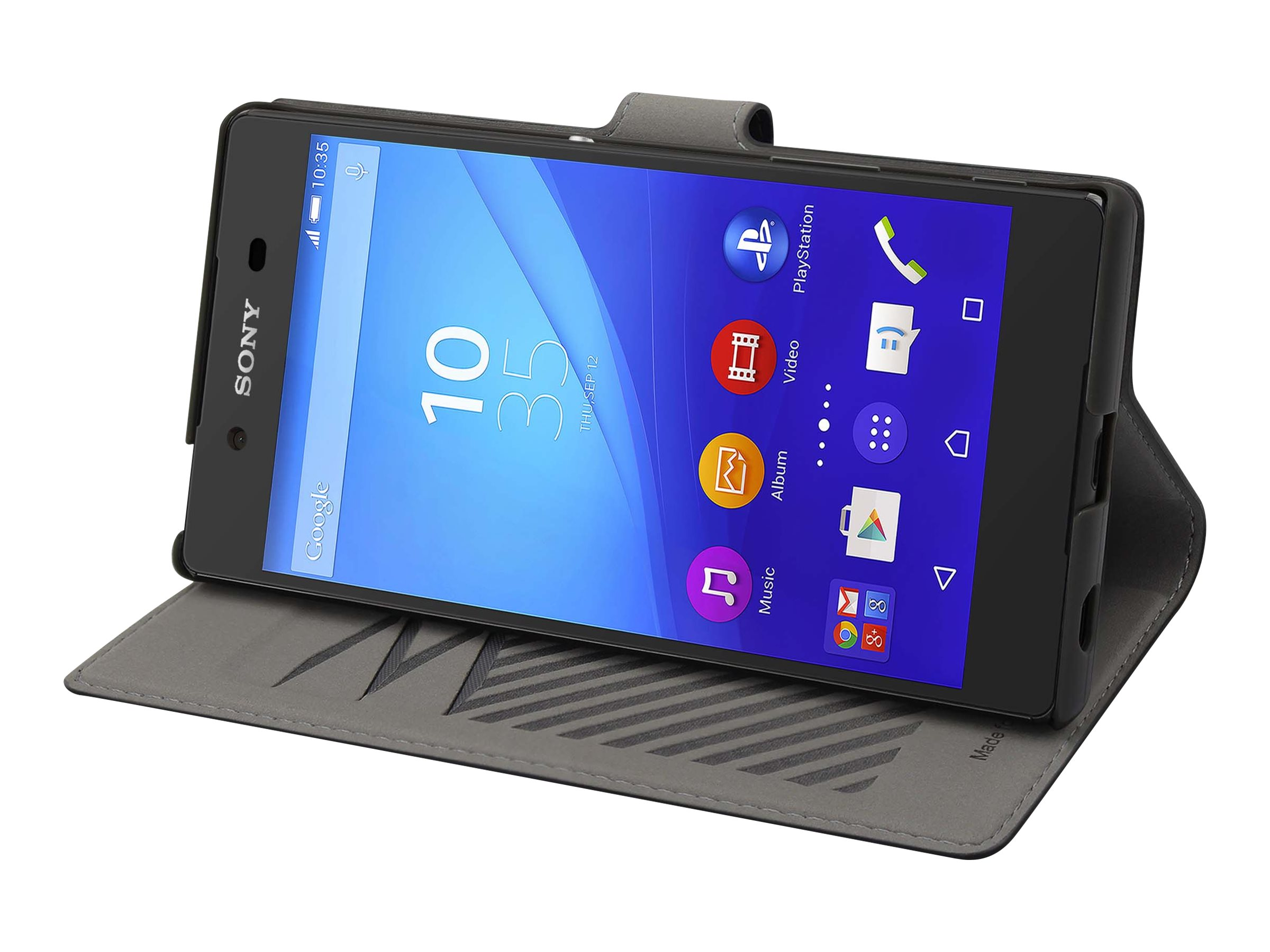 Muvit MFX slim s folio - Protection à rabat pour Sony XPERIA Z5 - noir
