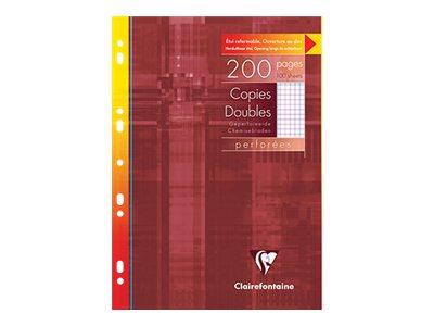 Clairefontaine - A4 - Copies doubles -  21 x 29,7 - 200 pages - Petits carreaux