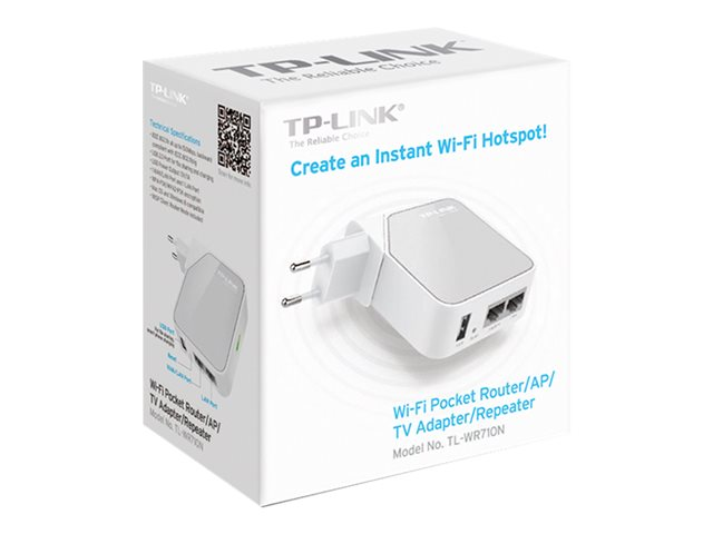 Image of TP-LINK TL-WR710N - wireless router - 802.11b/g/n - wall-pluggable