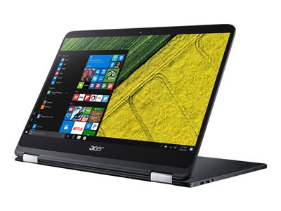 """Acer Spin 7 SP714-51-M33X - Flip design - Core i7 7Y75 / 1.3 GHz - Win 10 Home 64-bit - 8 GB RAM - 256 GB SSD - 14"""" IPS touchscreen 1920 x 1080 (Full HD) - HD Graphics 615 - Wi-Fi - shale black"""