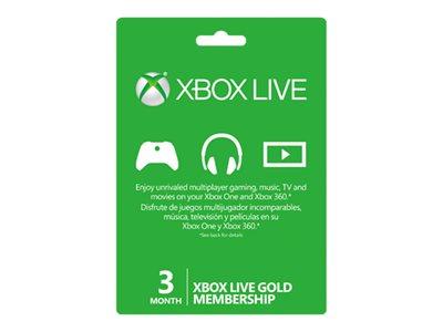 Microsoft Xbox Live Gold Membership - Karta předplatného (3 měsíce) - ESD