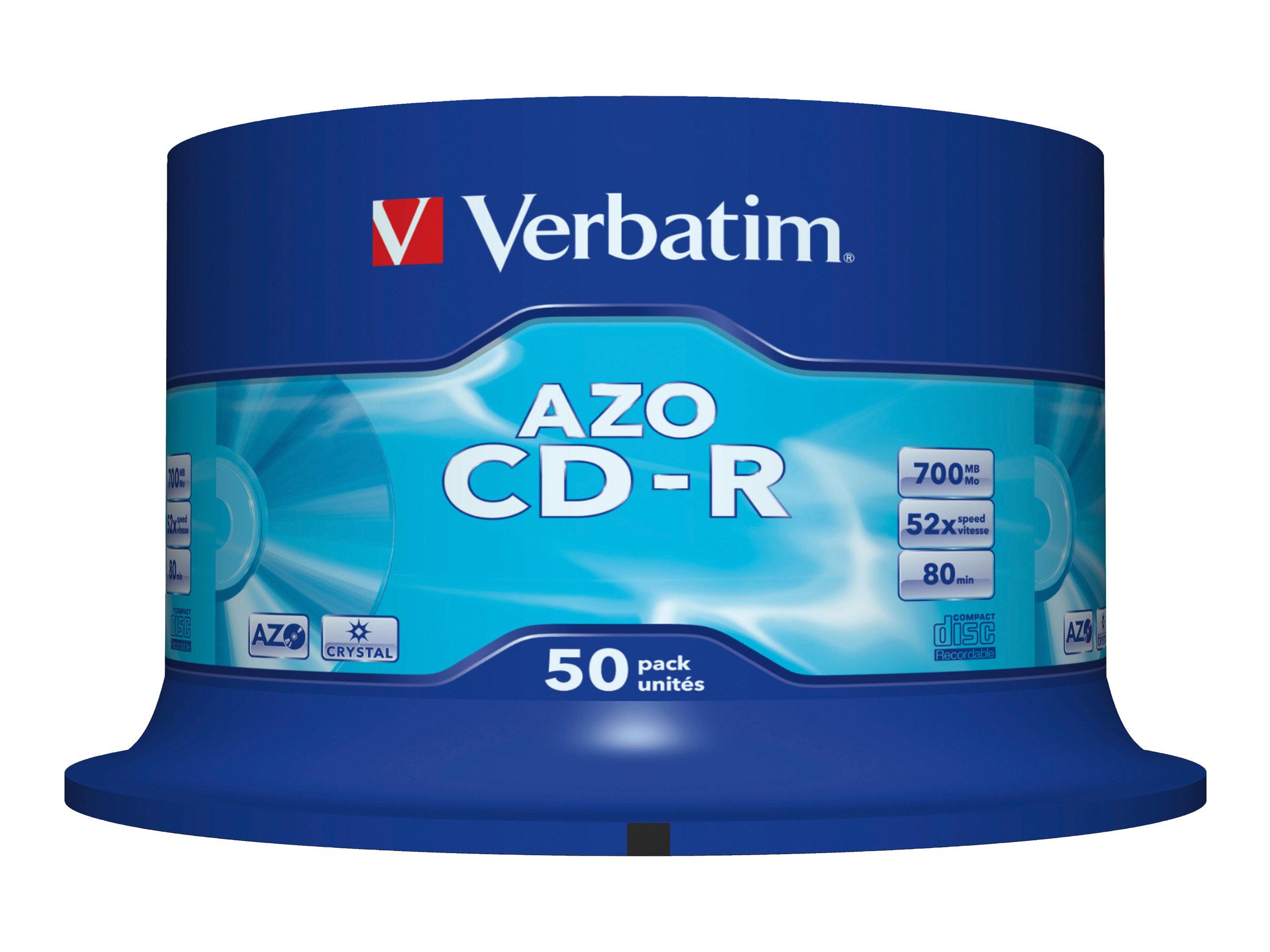 Verbatim DataLifePlus - CD-R x 50 - 700 Mo - support de stockage