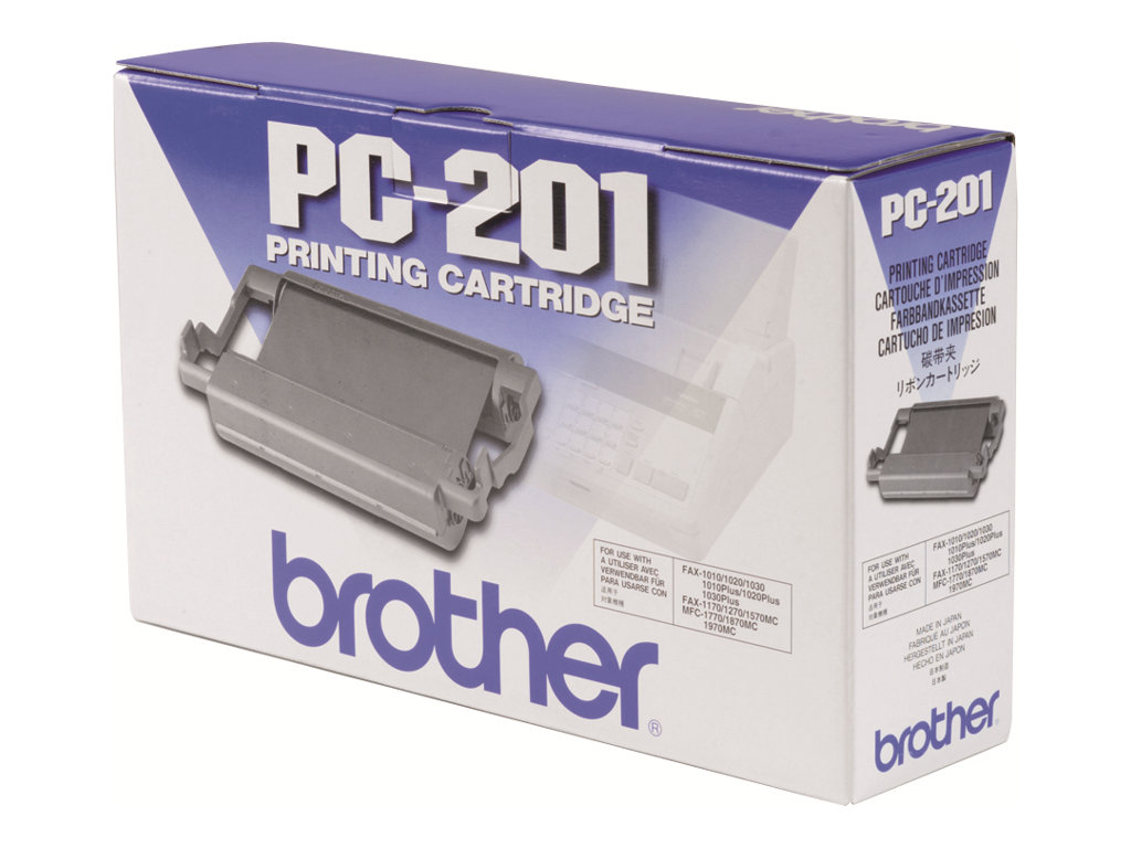 Brother PC201 - 1 - noir - ruban d'impression
