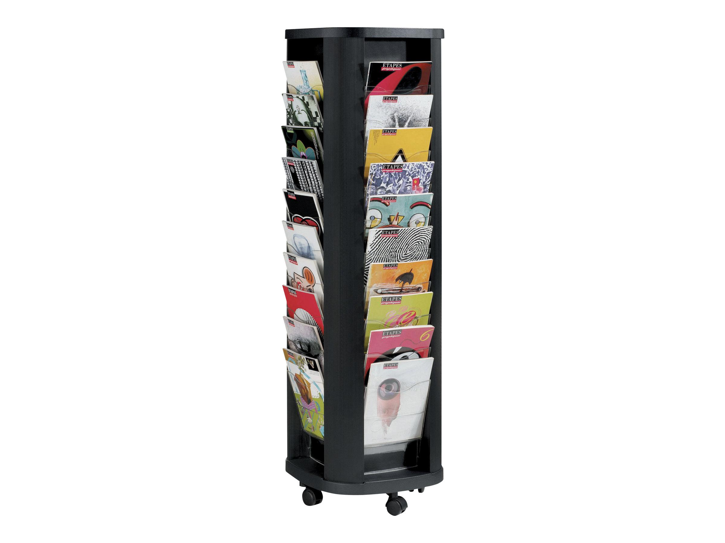 Paperflow - Présentoir mobile - 40 pochettes - pour A4 - noir