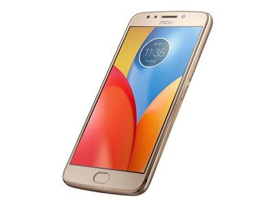 "Motorola Moto E4 Plus - Smartphone - 4G LTE - 16 GB - microSDXC slot - CDMA / GSM - 5.5"" - 1280 x 720 pixels (267 ppi) - RAM 2 GB - 13 MP (5 MP front camera) - Android - fine gold"