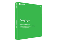 Microsoft Project Professional 2016 - ensemble de boîtes