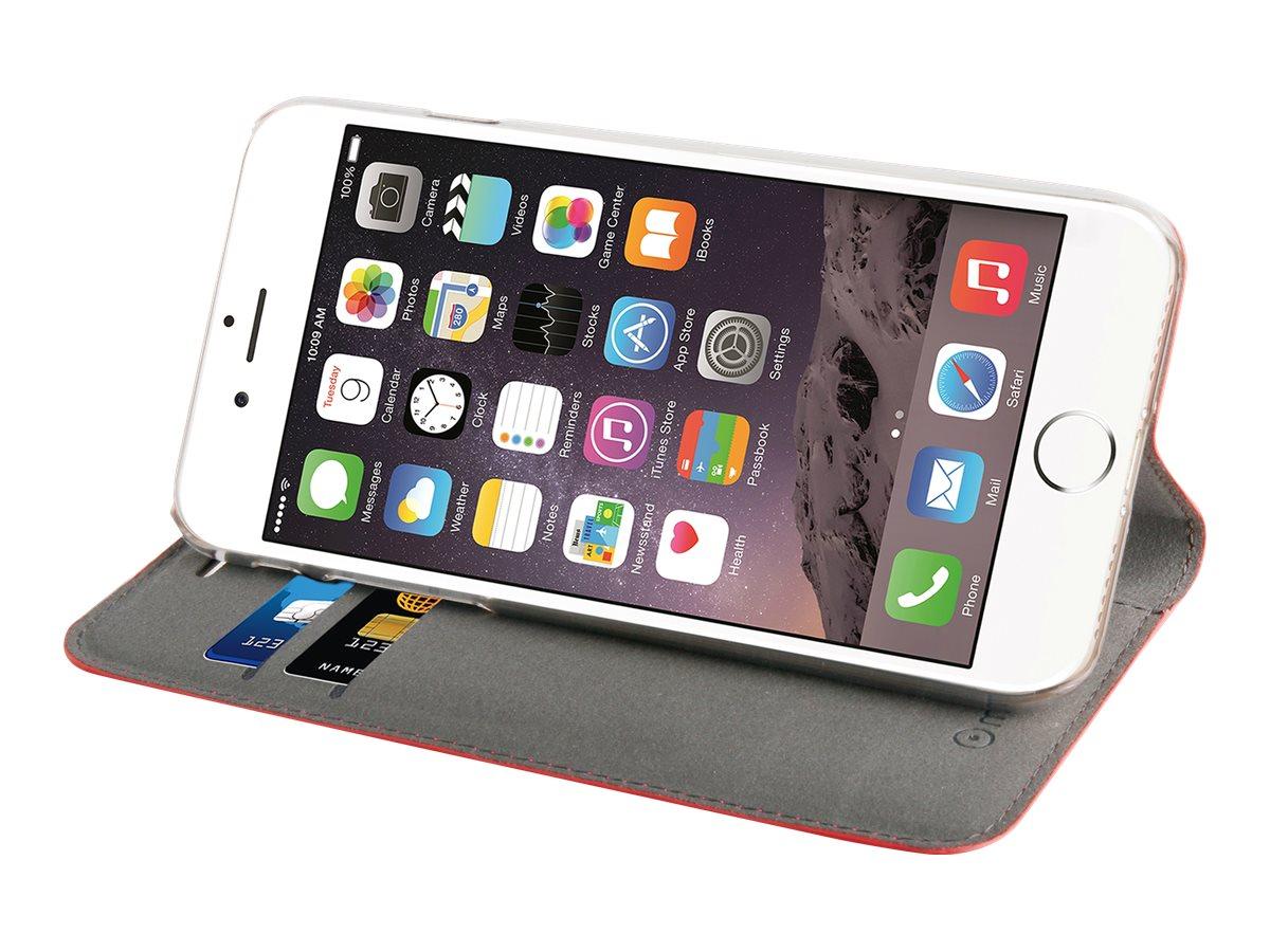 Muvit Folio Stand - Protection à rabat pour iPhone 7 Plus - rose