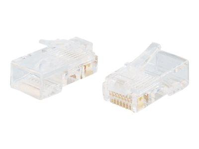 C2G RJ45 Cat5E Modular Plug for Flat Stranded Cable - Síťový konektor - RJ-45 (M) - CAT 5e (balení 25)