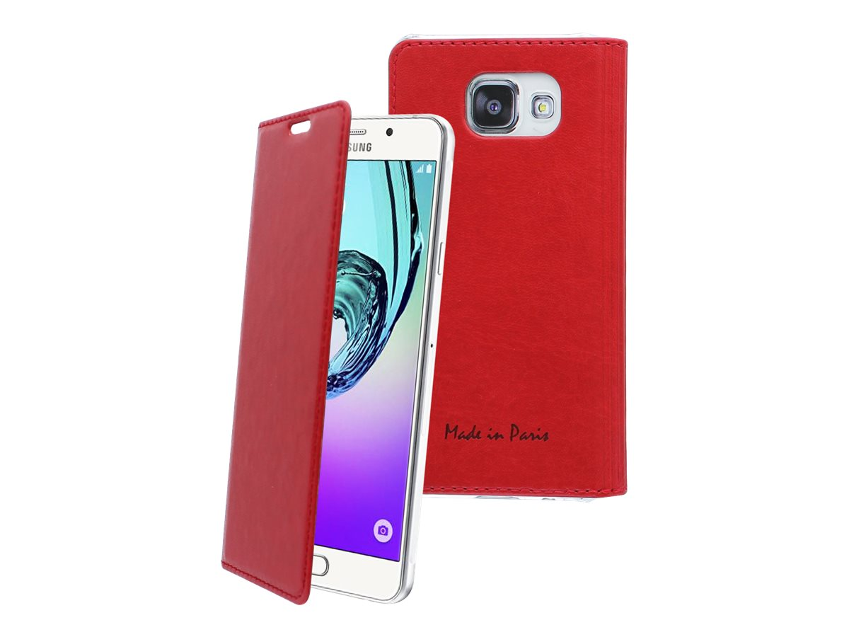 Muvit Made in Paris Crystal Folio Luxe - Protection à rabat pour Samsung Galaxy A5 - rouge