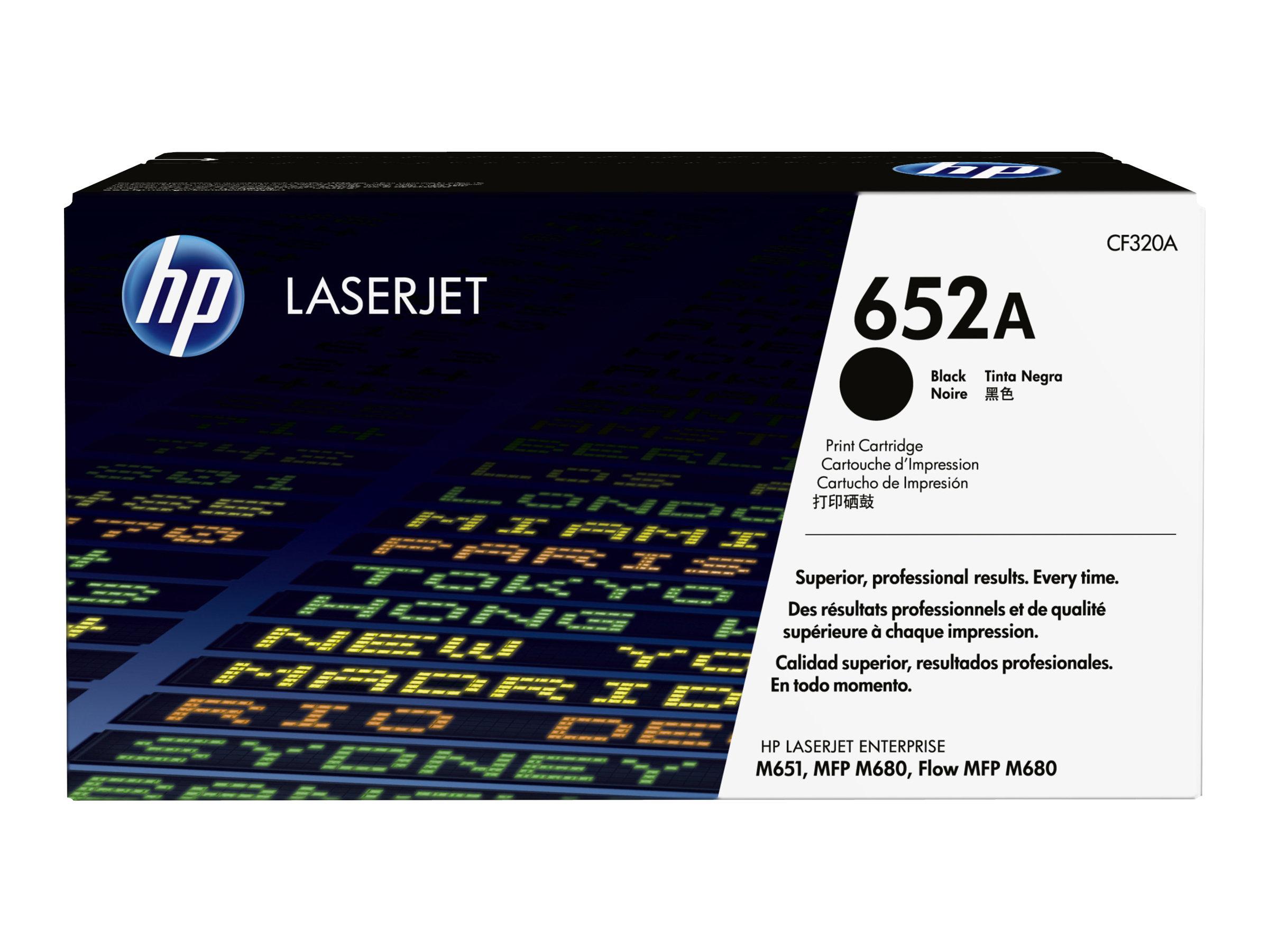 HP 652A - noire - original - toner