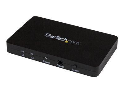 StarTech.com Automatic Video Switch w/ Aluminum Housing and MHL Support - 4K 30Hz - Video/audio switch - 2 x HDMI - desktop - AC 100/230 V