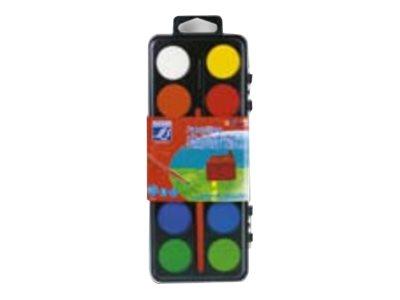 Lefranc & Bourgeois - Peinture - 12 tubes de gouache - tempéra - couleurs assorties + pinceau