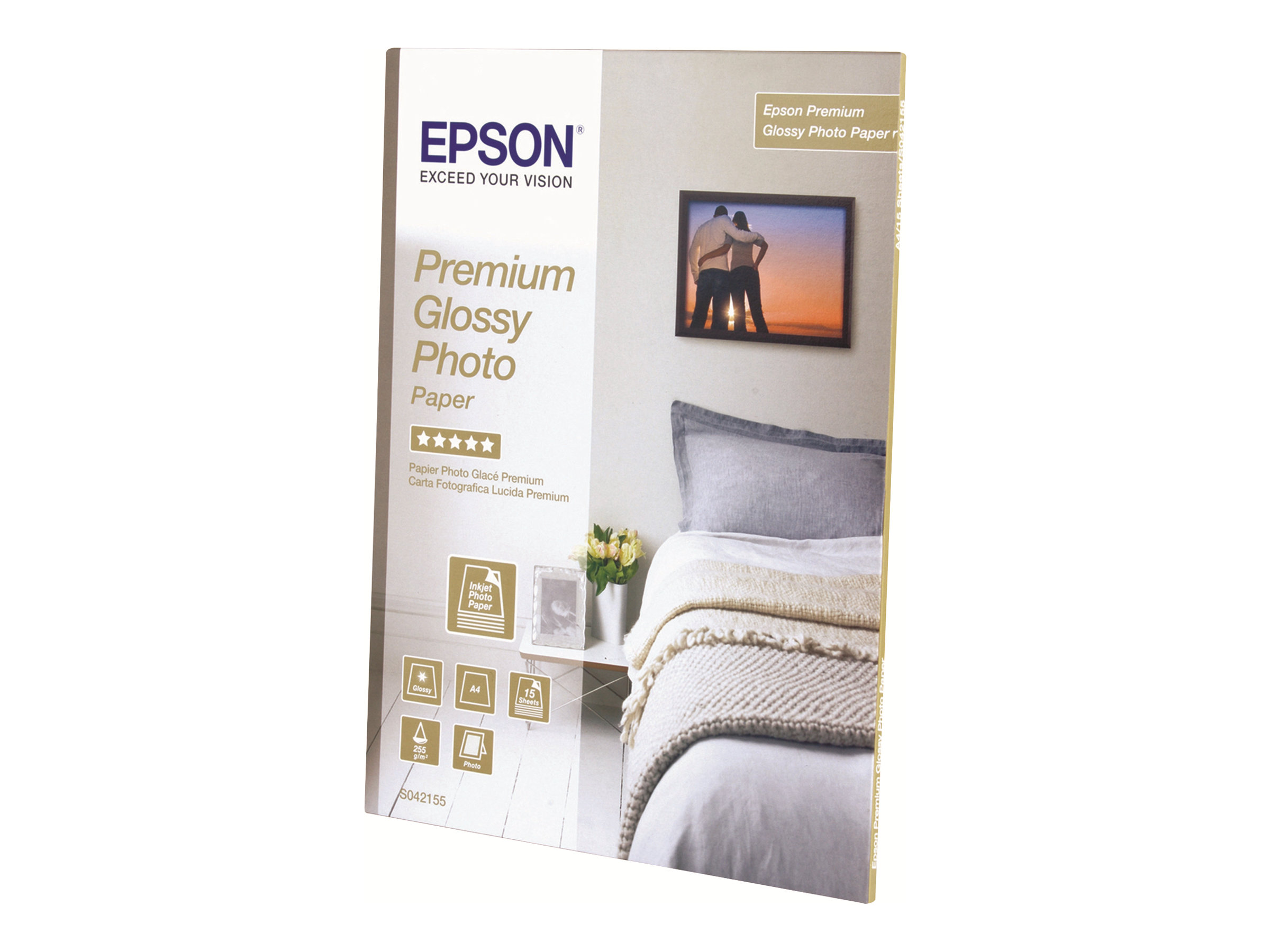 Epson Premium Glossy Photo Paper - papier photo - 15 feuille(s)