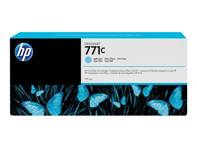HP 771C - cyan clair - originale - cartouche d'encre
