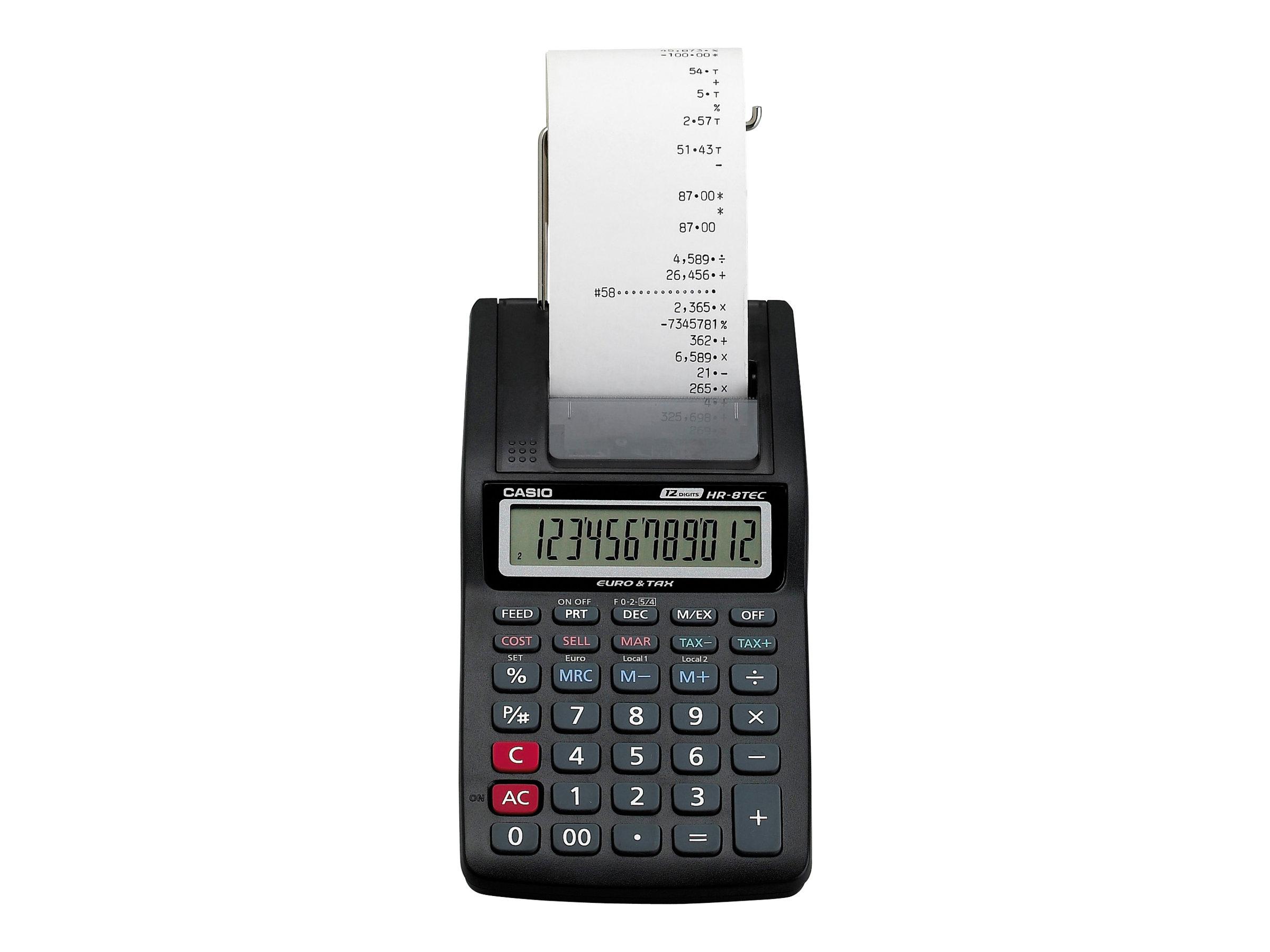 Casio hr 8tec calculatrice avec imprimante for Calculatrice prix