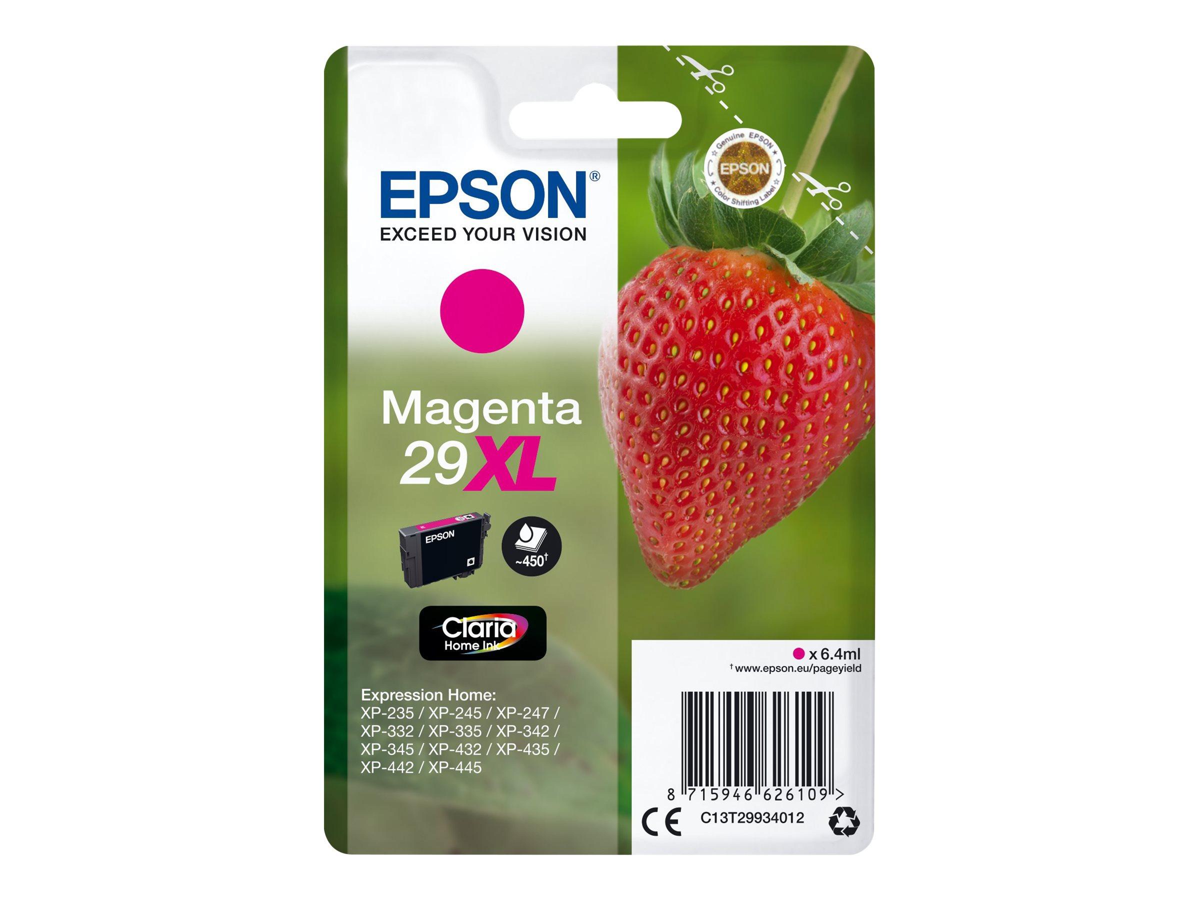 Epson T29XL - fraise - taille XL - magenta - originale - cartouche d'encre