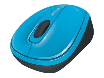 Microsoft Wireless Mobile Mouse 3500 - souris - 2.4 GHz - bleu cyan