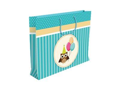 Clairefontaine Shopping - Sac cadeau - 35 cm x 10 cm x 22.5 cm - anniversaire garçon