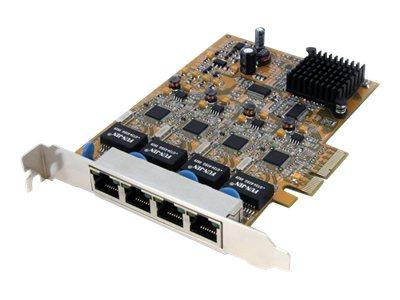 startech.com 4 port pci express gigabit ethernet nic network adapter c