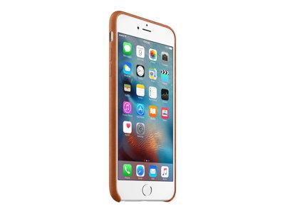 Apple - Zadní kryt pro mobilní telefon - kůže - tmavě hnědá - pro iPhone 6 Plus, 6s Plus